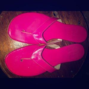 Pink size 8 flip flops
